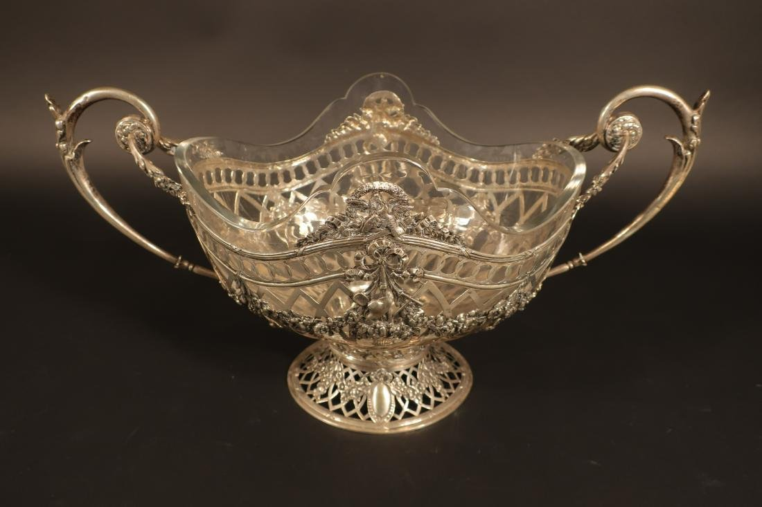 Ornate Continental Silver Centerpiece Bowl - 3