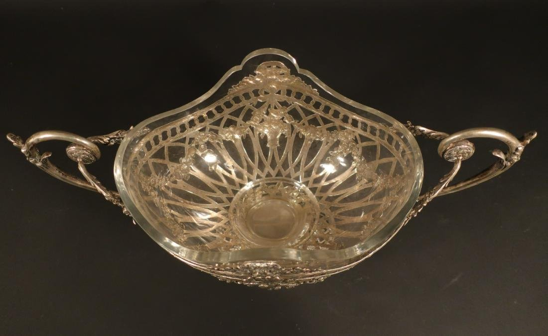 Ornate Continental Silver Centerpiece Bowl - 4