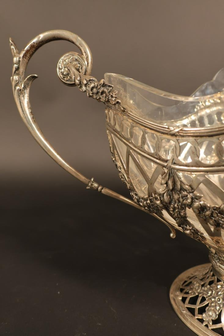 Ornate Continental Silver Centerpiece Bowl - 5