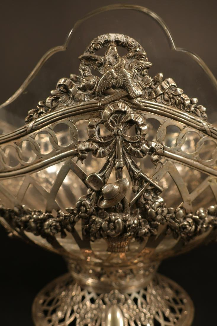 Ornate Continental Silver Centerpiece Bowl - 6