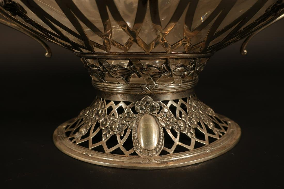 Ornate Continental Silver Centerpiece Bowl - 7