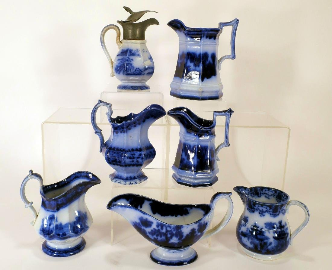 Ironstone Pitchers and Sauce Boat