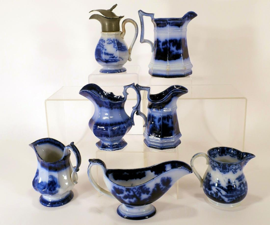Ironstone Pitchers and Sauce Boat - 2