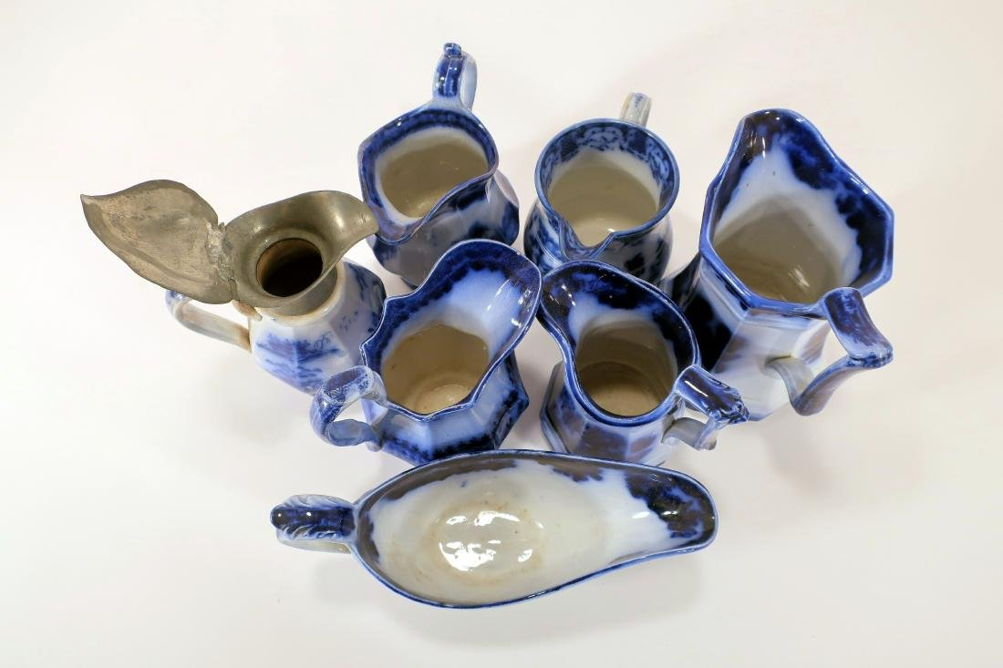 Ironstone Pitchers and Sauce Boat - 3