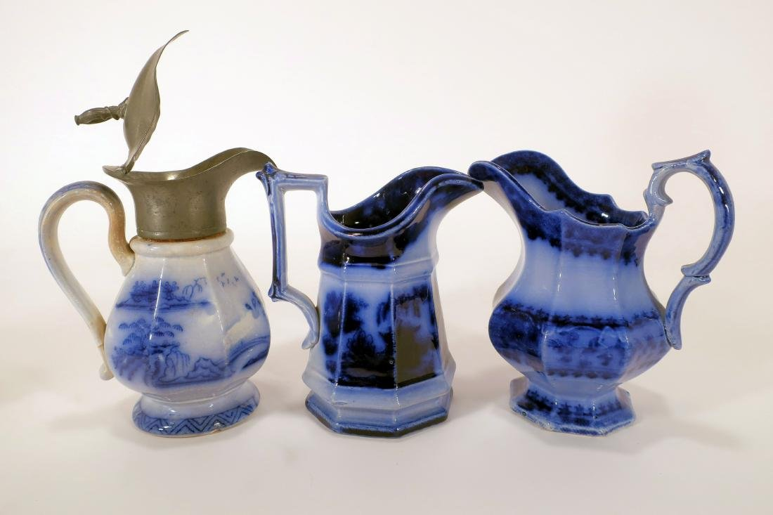 Ironstone Pitchers and Sauce Boat - 6