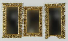 3 Carved Giltwood Mirrors
