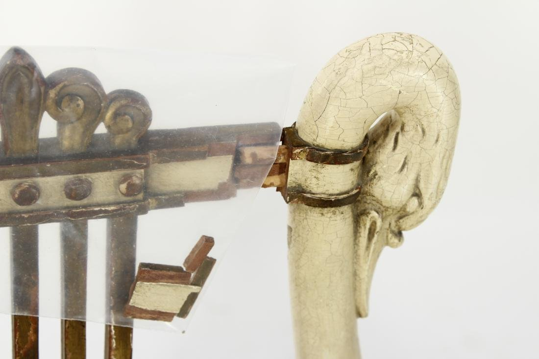 Pr. of Regency Carved Swan Side Chairs - 4