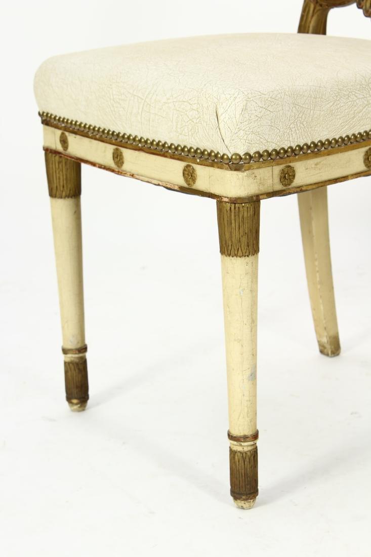 Pr. of Regency Carved Swan Side Chairs - 6
