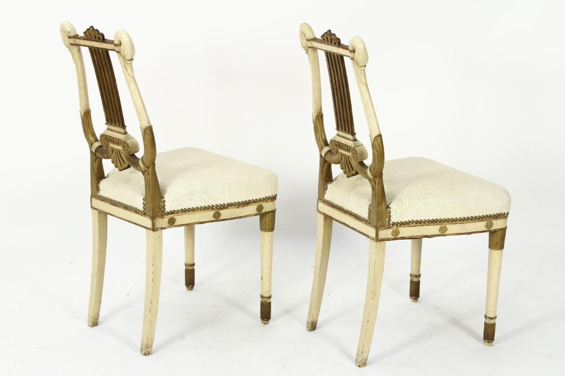 Pr. of Regency Carved Swan Side Chairs - 7