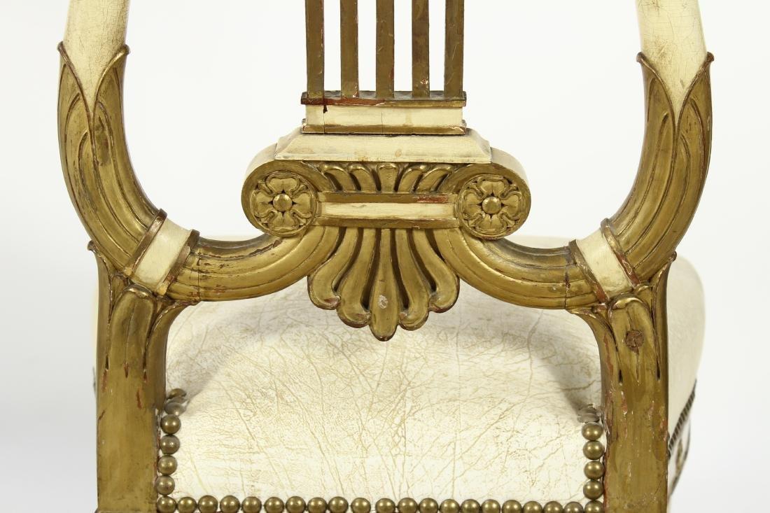 Pr. of Regency Carved Swan Side Chairs - 8