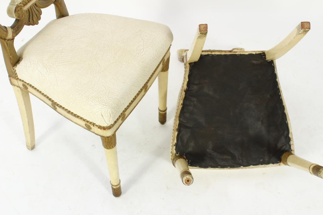 Pr. of Regency Carved Swan Side Chairs - 9