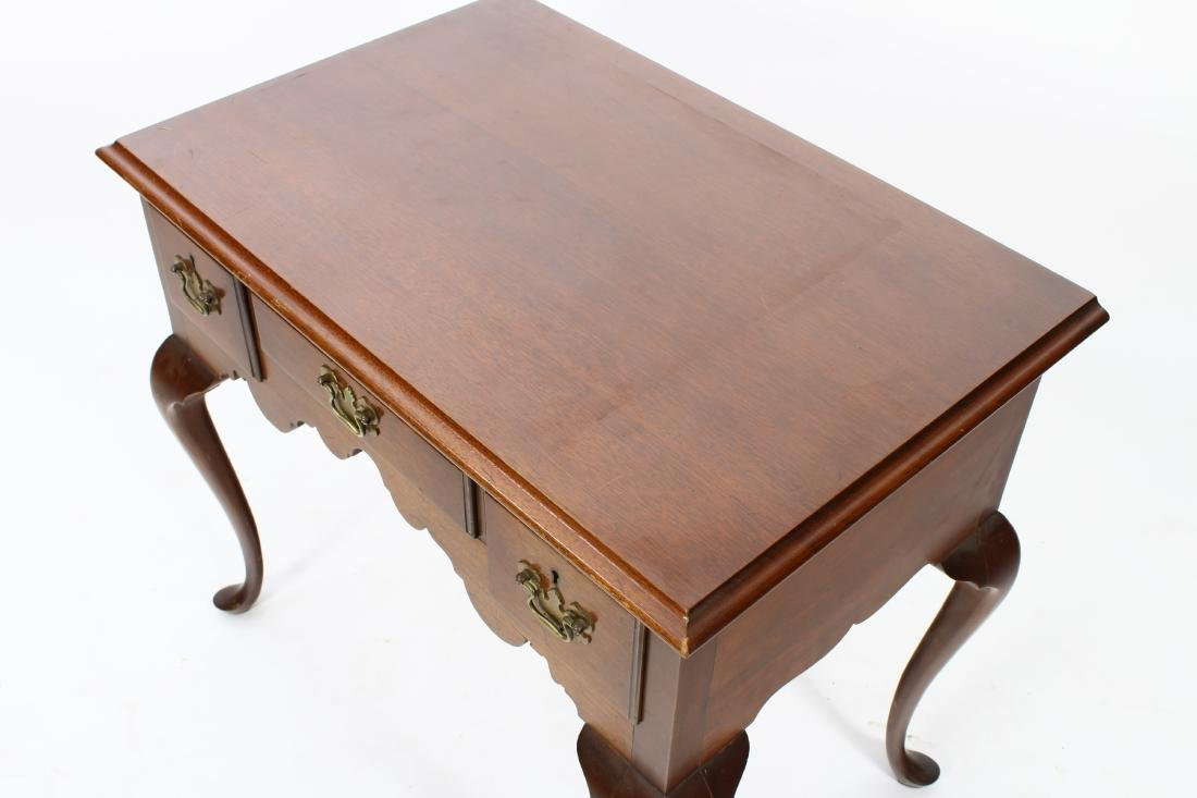 Queen Anne Style Mahogany Lowboy - 4