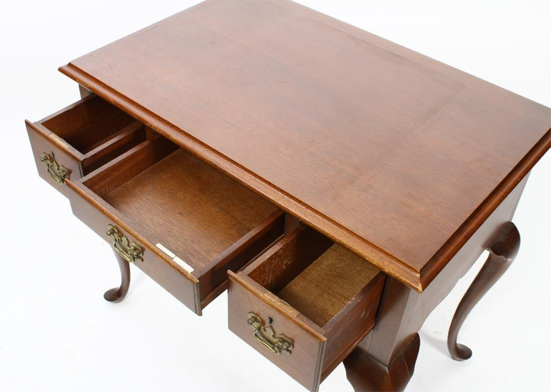 Queen Anne Style Mahogany Lowboy - 5