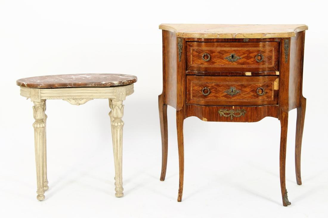 Two Louis XVI Style Tables