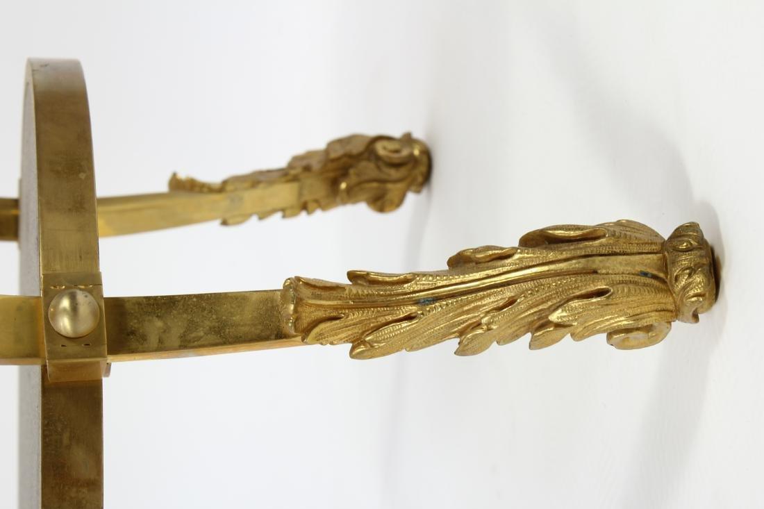 French Gilt Bronze & Tiger Eye Gueridon Side Table - 5