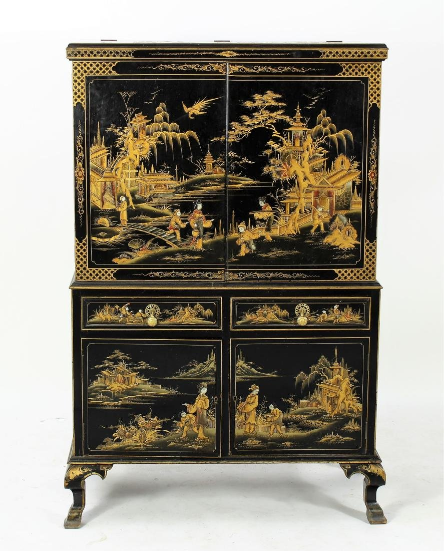 Chinoiserie Decorated Storage Cabinet, 20th C.