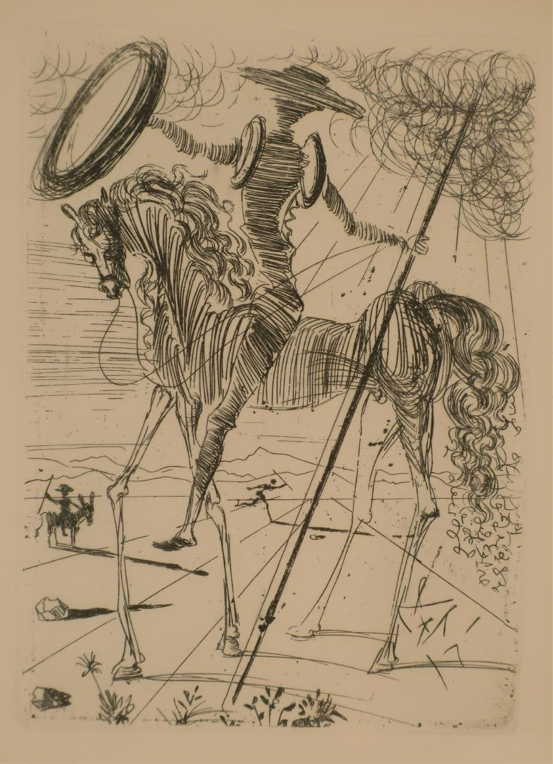 "Dali, ""Don Quixote"" etching - 2"