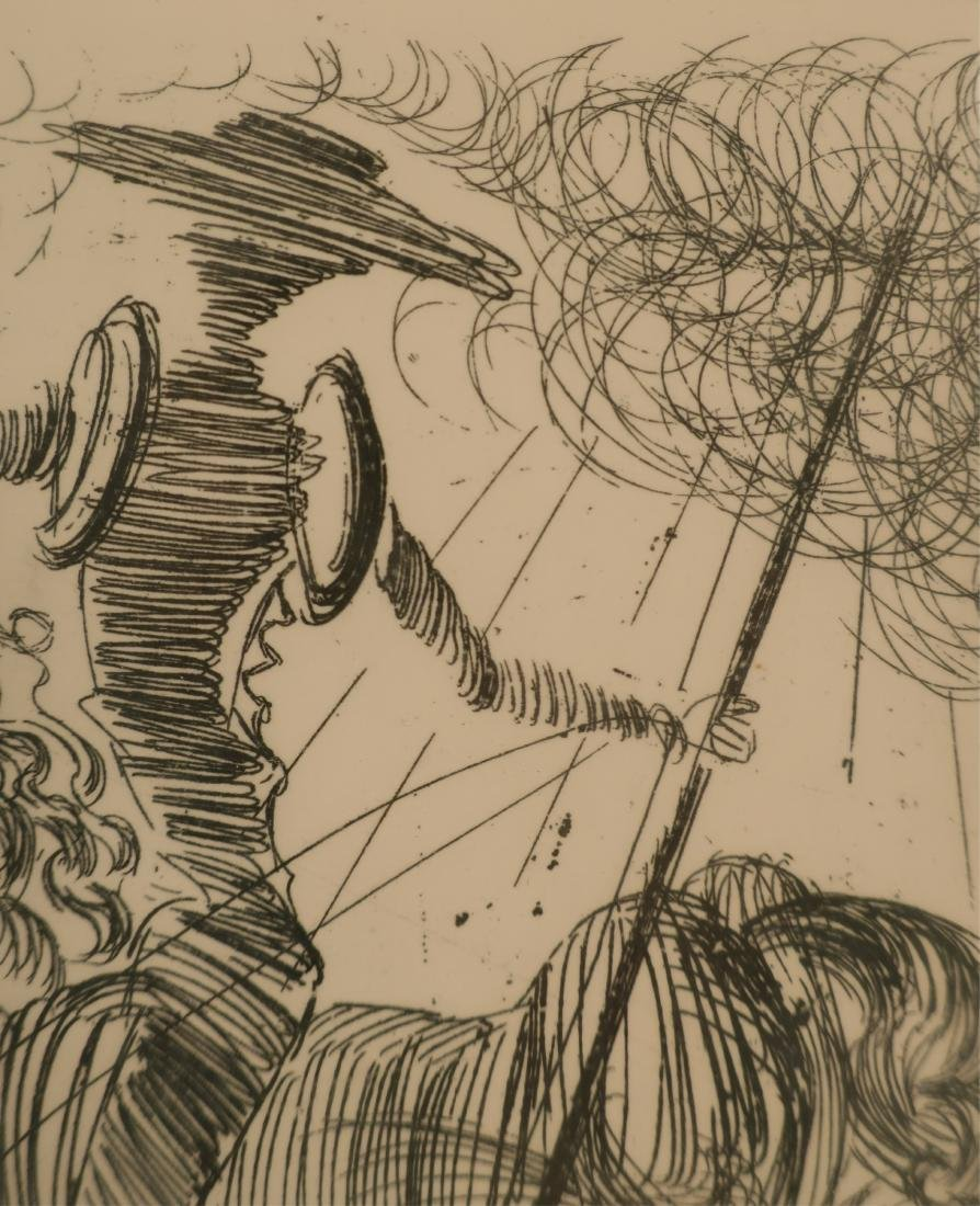 "Dali, ""Don Quixote"" etching - 4"