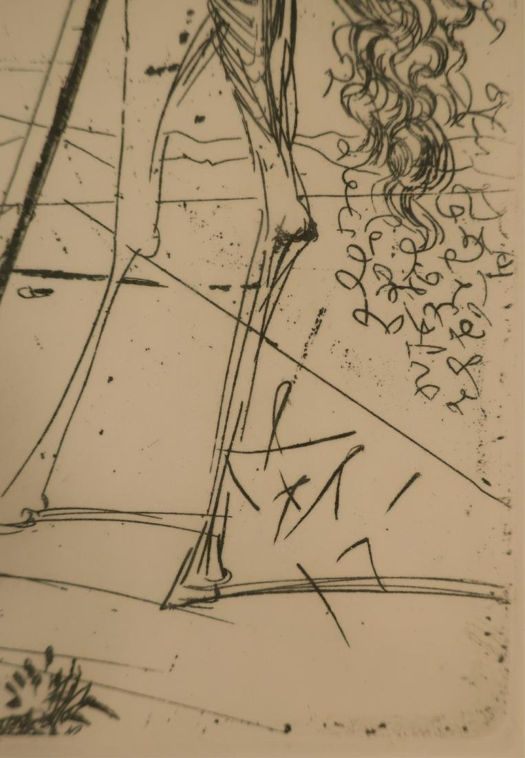 "Dali, ""Don Quixote"" etching - 5"