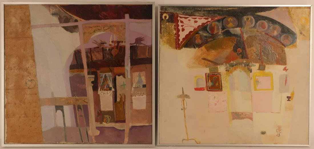 Lot of 2: Ann Winn, Abstract Interiors