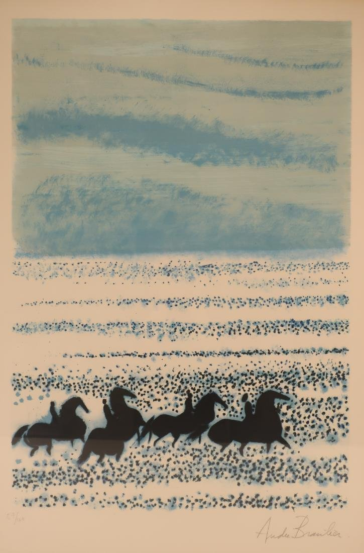 Andre Brasilier,Fr.,Blue Horses,litho