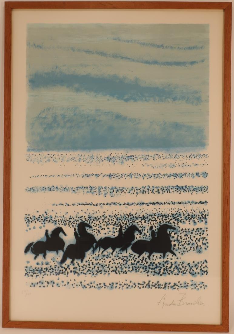 Andre Brasilier,Fr.,Blue Horses,litho - 2