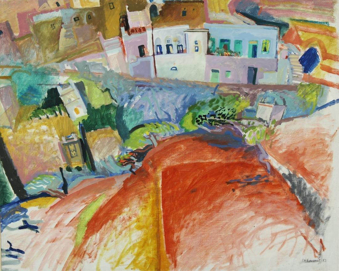 Lot of 7 Pauline Vincent Interiors & Landscape O/C