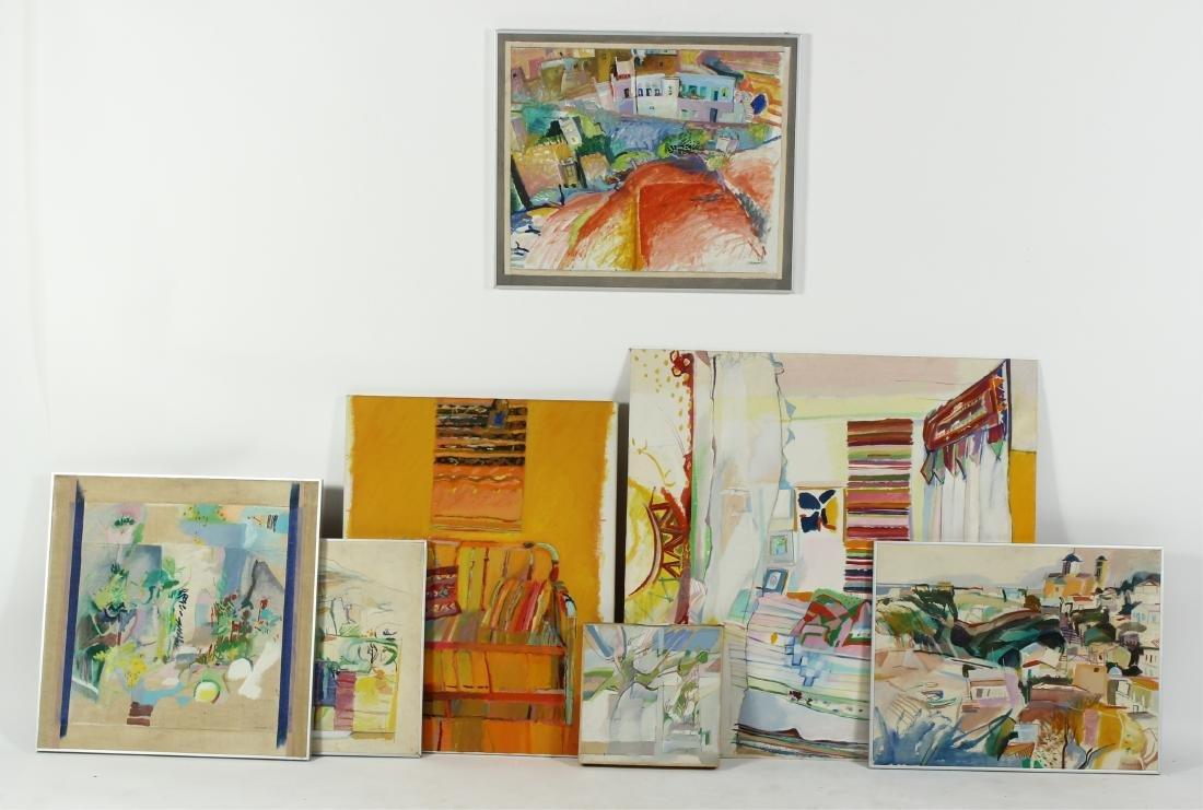 Lot of 7 Pauline Vincent Interiors & Landscape O/C - 2
