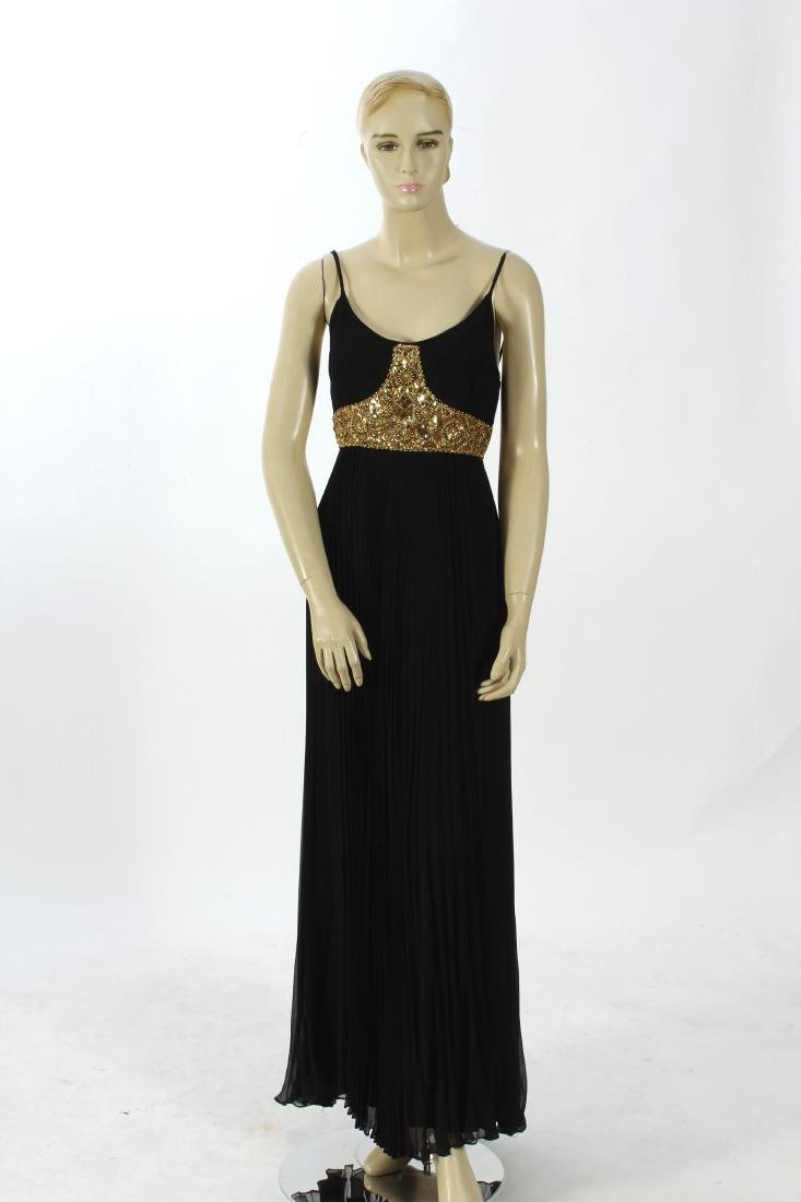 Jean Patou Beaded Bodice Evening Gown