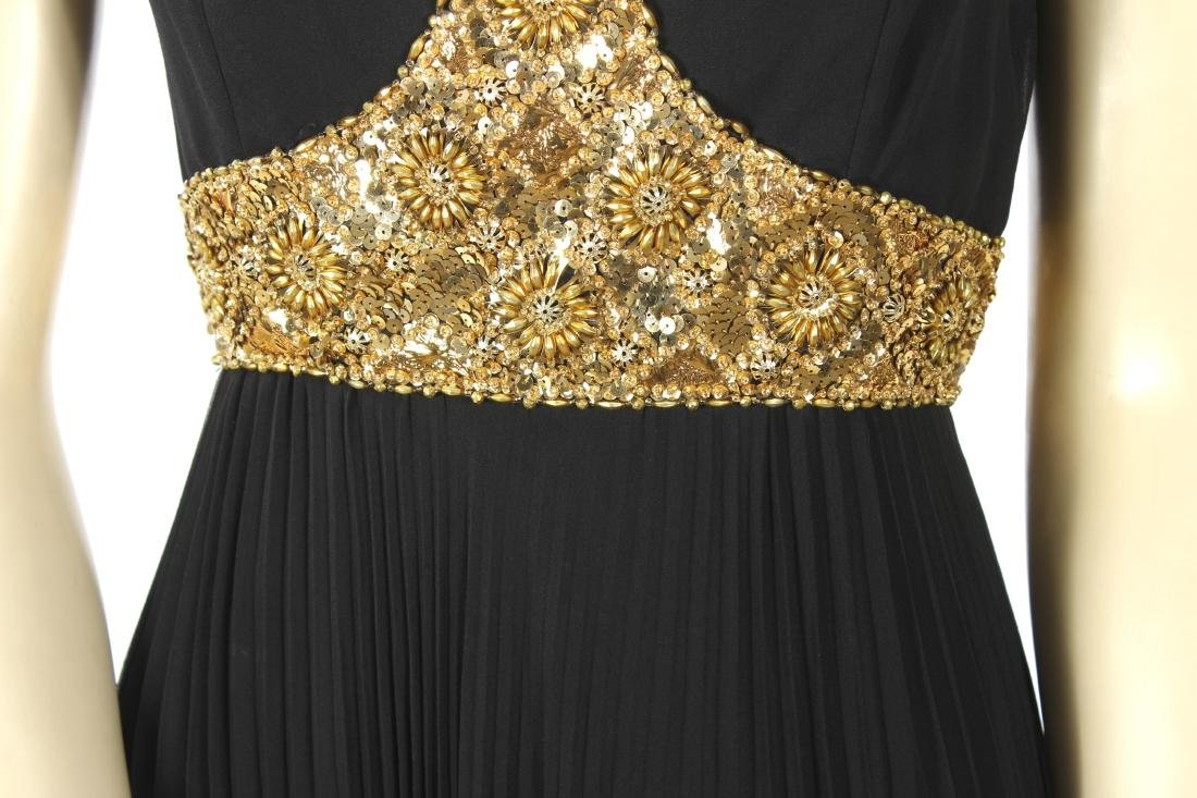 Jean Patou Beaded Bodice Evening Gown - 5