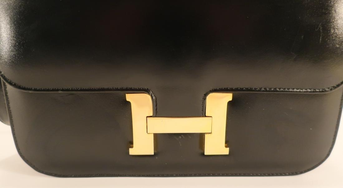 Black Hermes Constance Handbag - 4