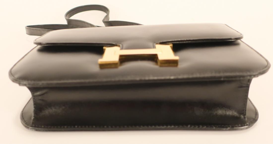 Black Hermes Constance Handbag - 7