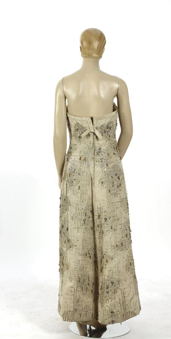 Mid-Century Embroidered and Beaded Gown - 5