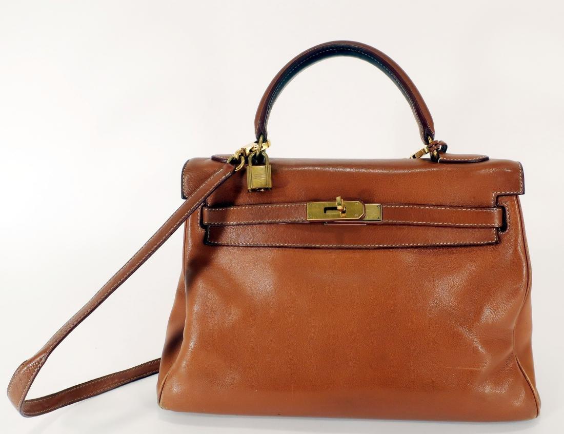 Hermes Camel Kelly Bag