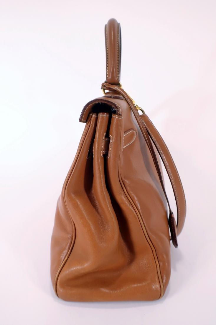 Hermes Camel Kelly Bag - 2