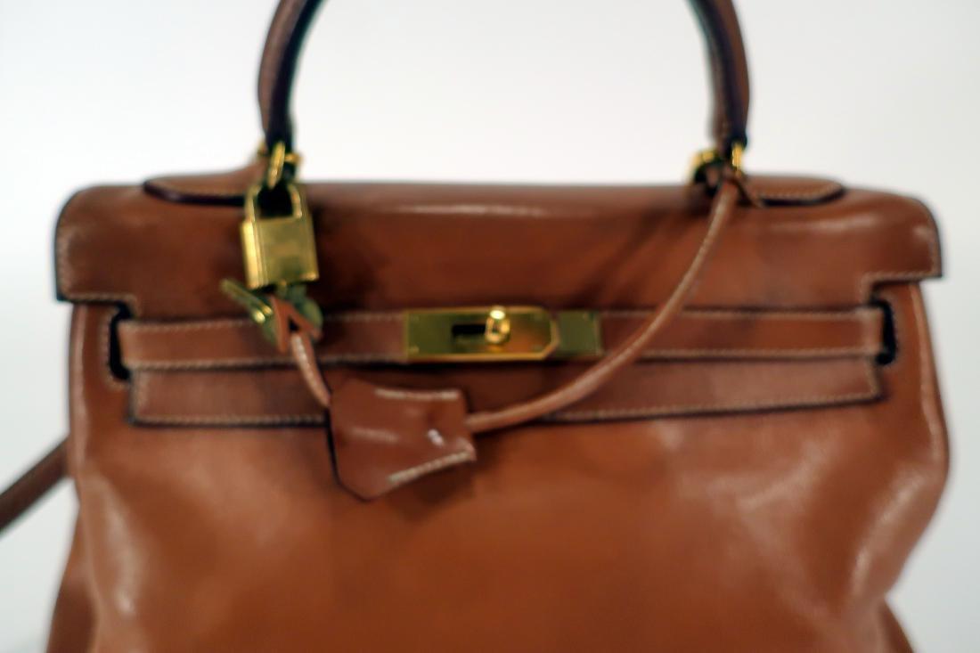 Hermes Camel Kelly Bag - 4