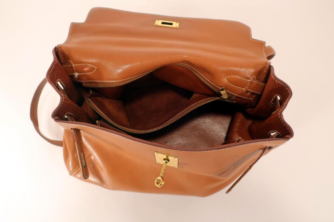 Hermes Camel Kelly Bag - 5
