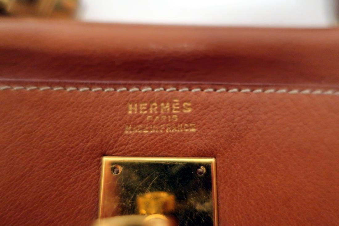 Hermes Camel Kelly Bag - 6