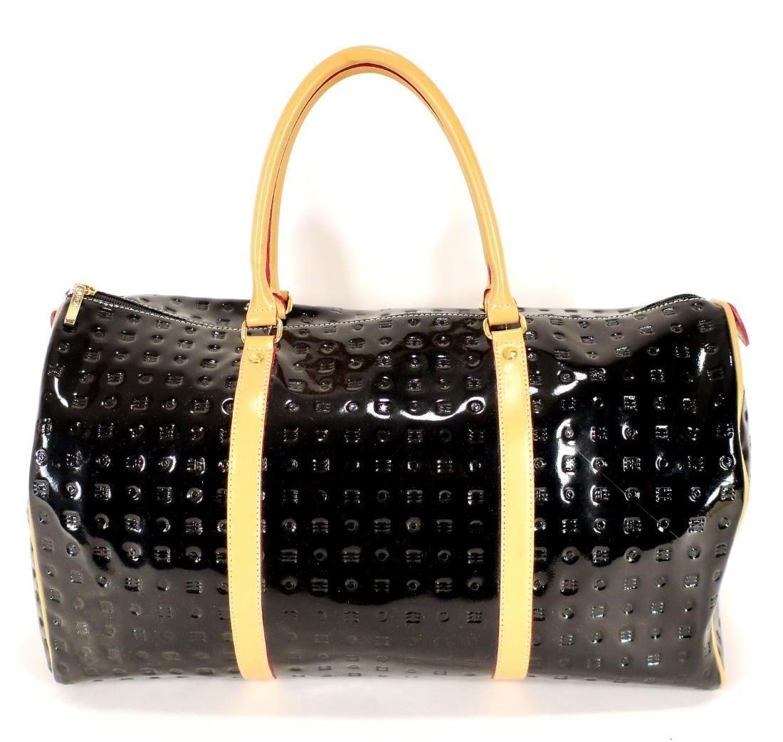 Arcadia Black Patent Leather Duffle