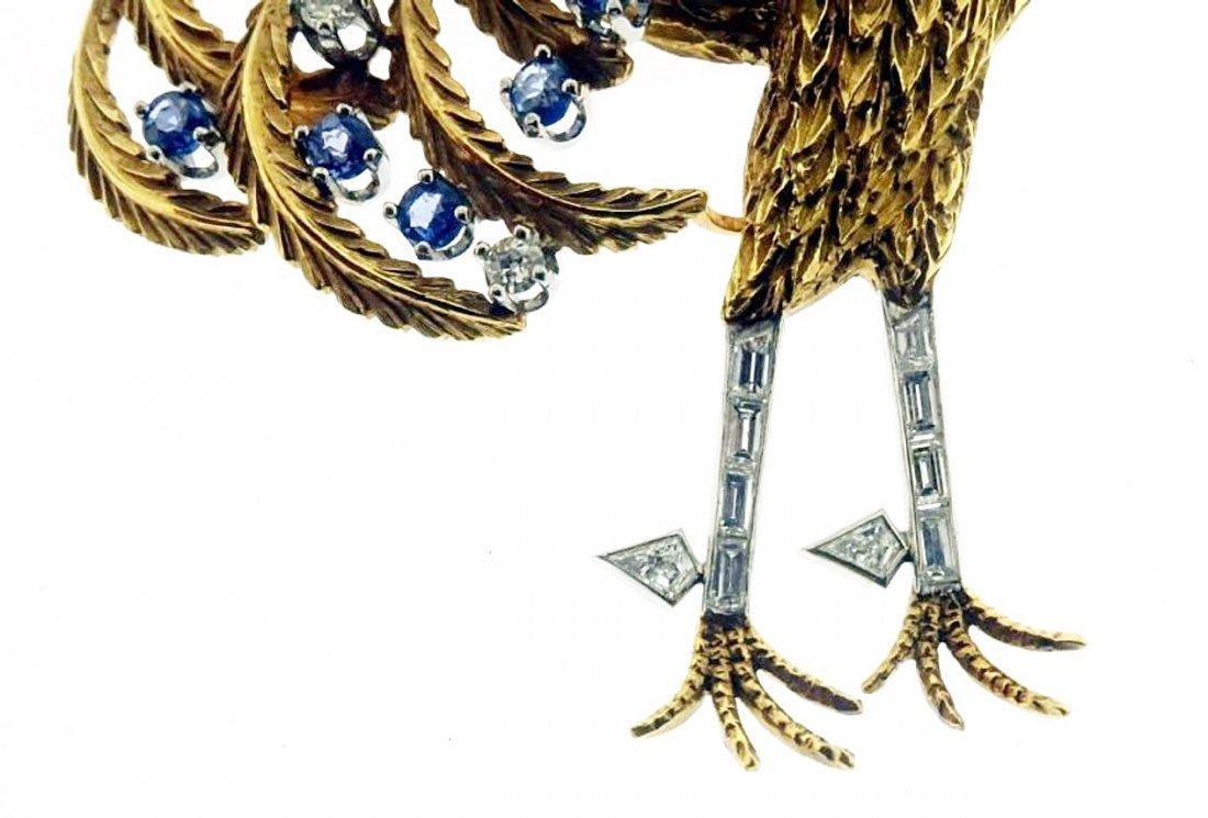Gold, Diamond, Emerald, Sapphire & Opal Brooch - 3