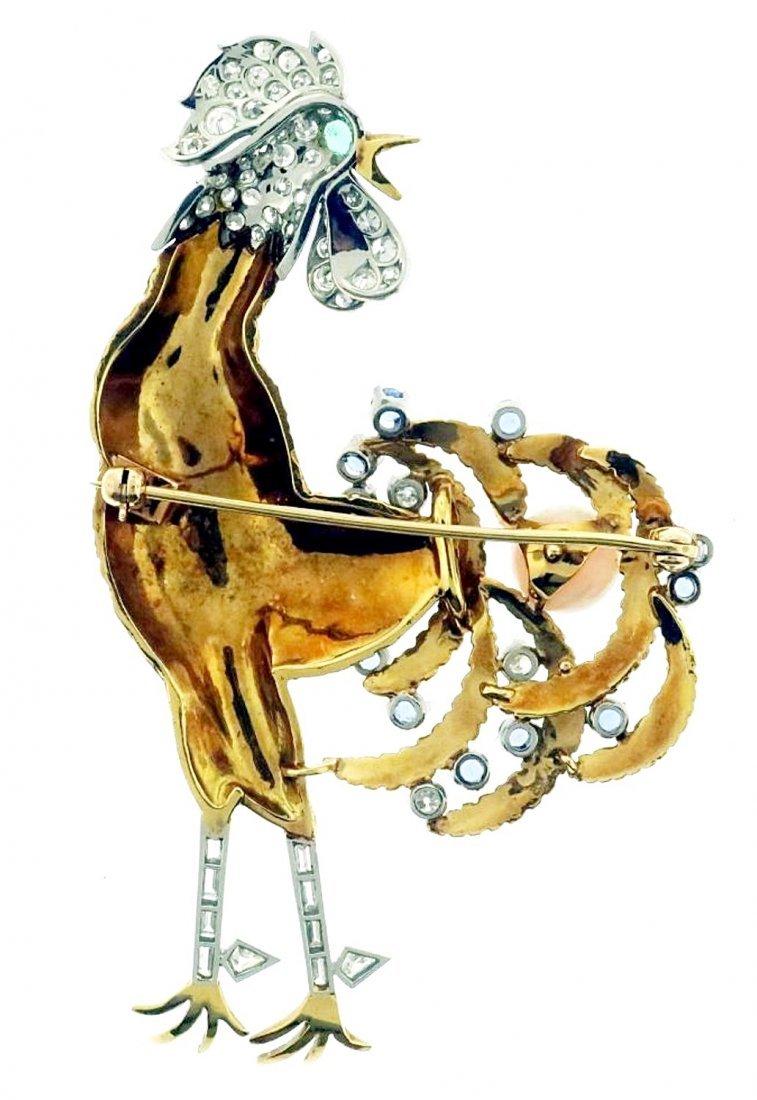 Gold, Diamond, Emerald, Sapphire & Opal Brooch - 5