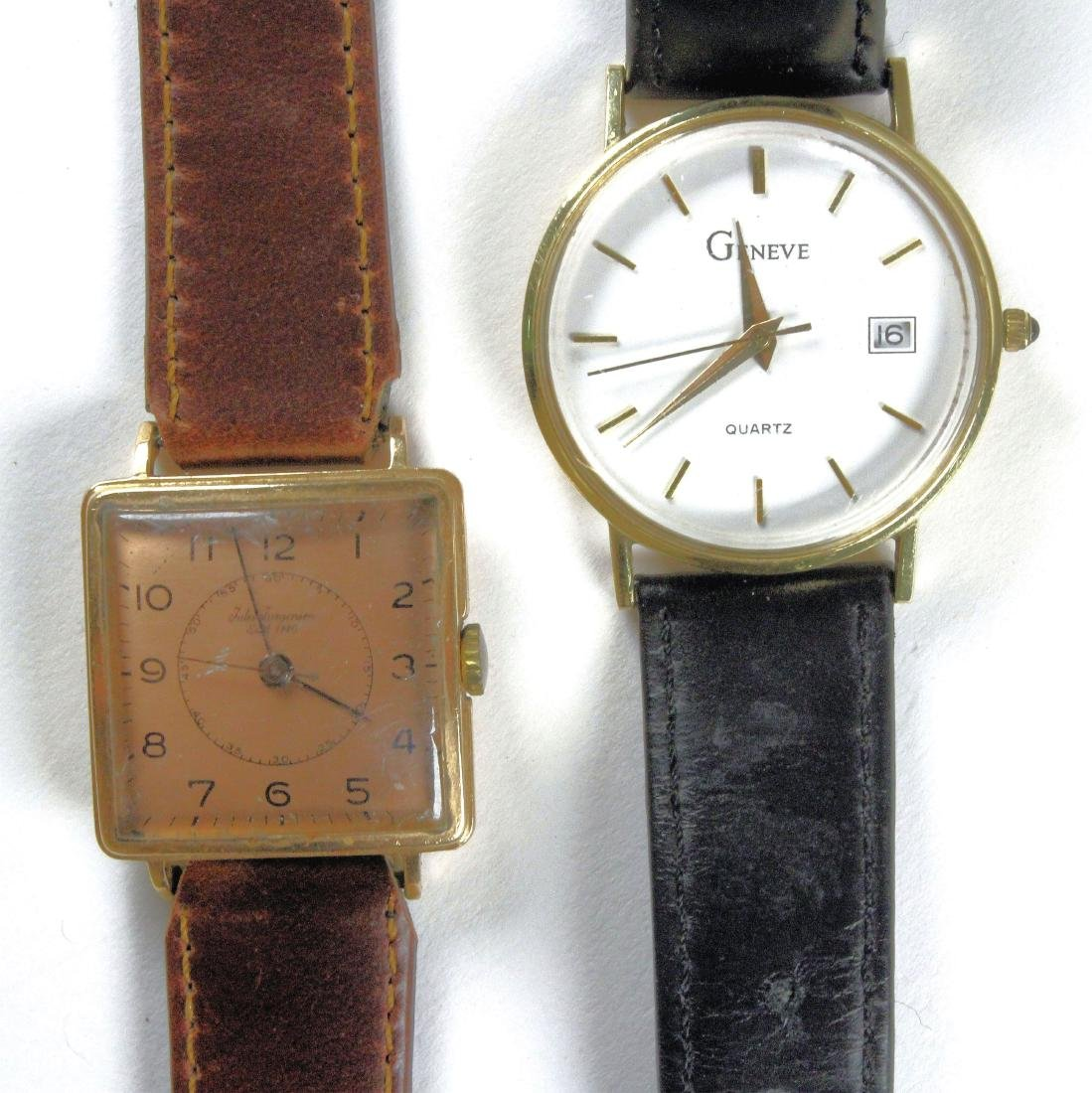 Two 14K Gold Wrist Watches