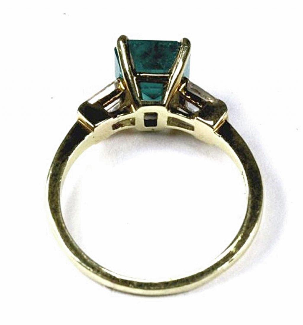Emerald and Diamond Ring - 4