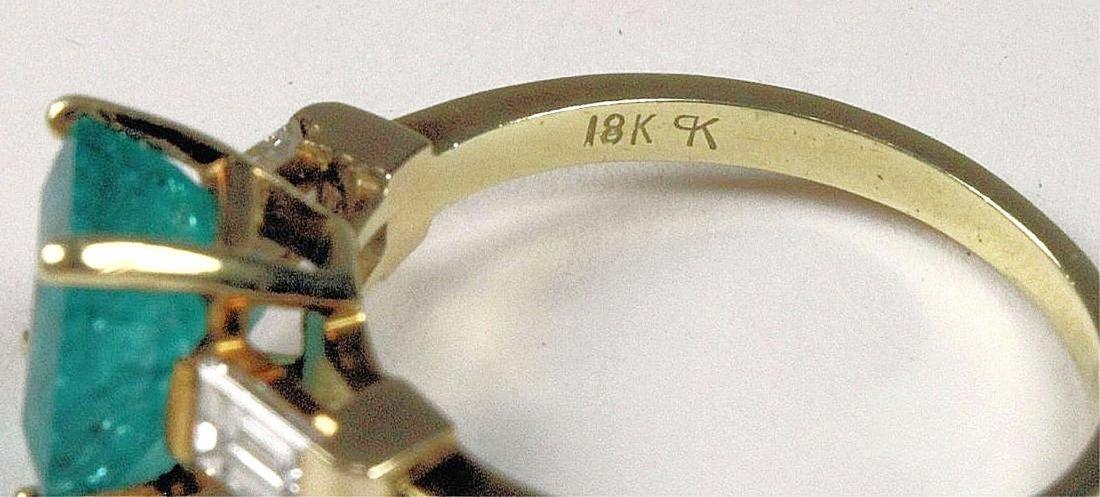 Emerald and Diamond Ring - 5