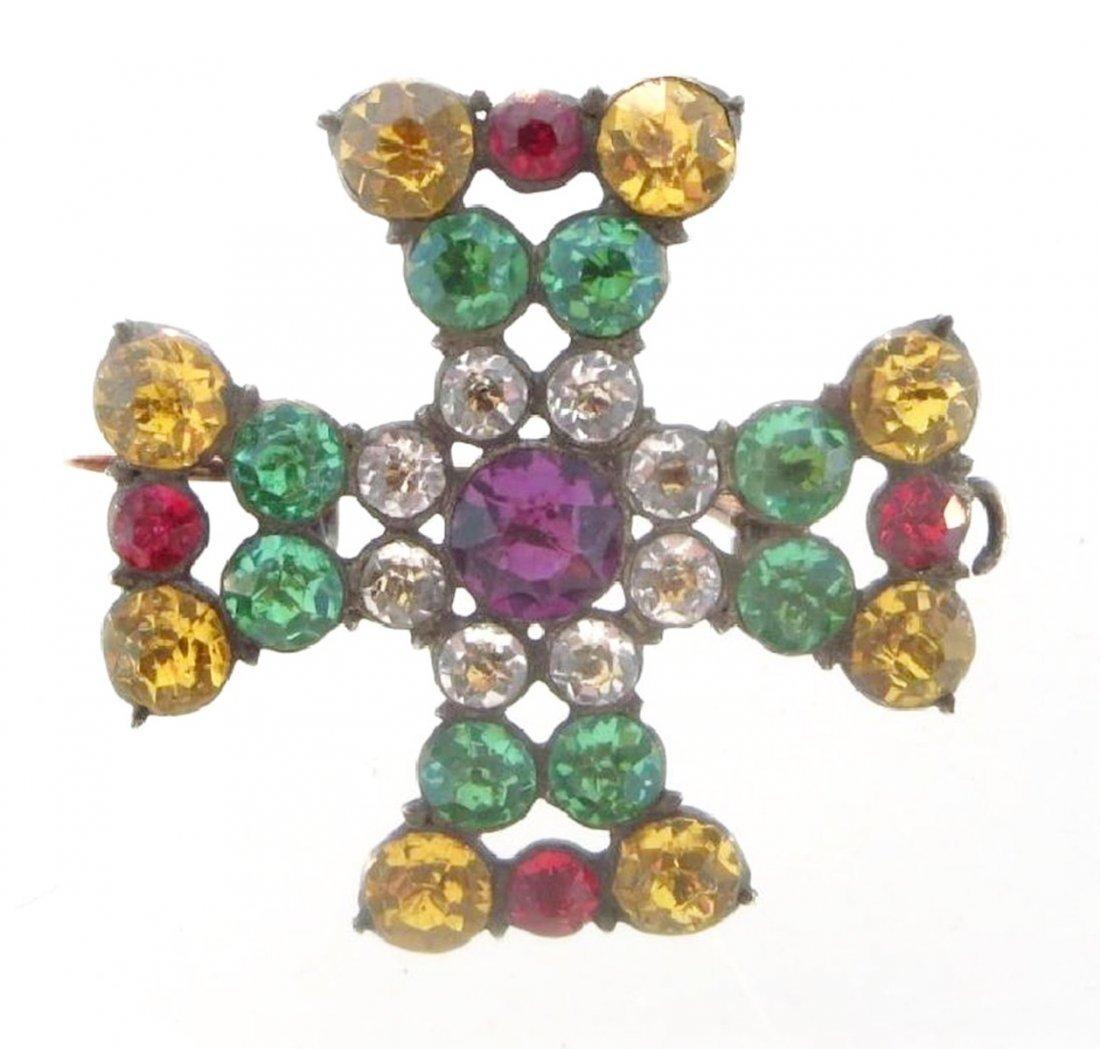 English Maltese Cross Pin/Pendant c.1800 - 2
