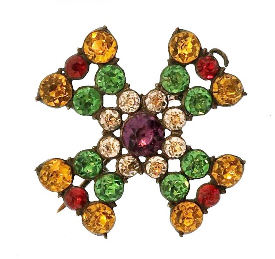 English Maltese Cross Pin/Pendant c.1800 - 4