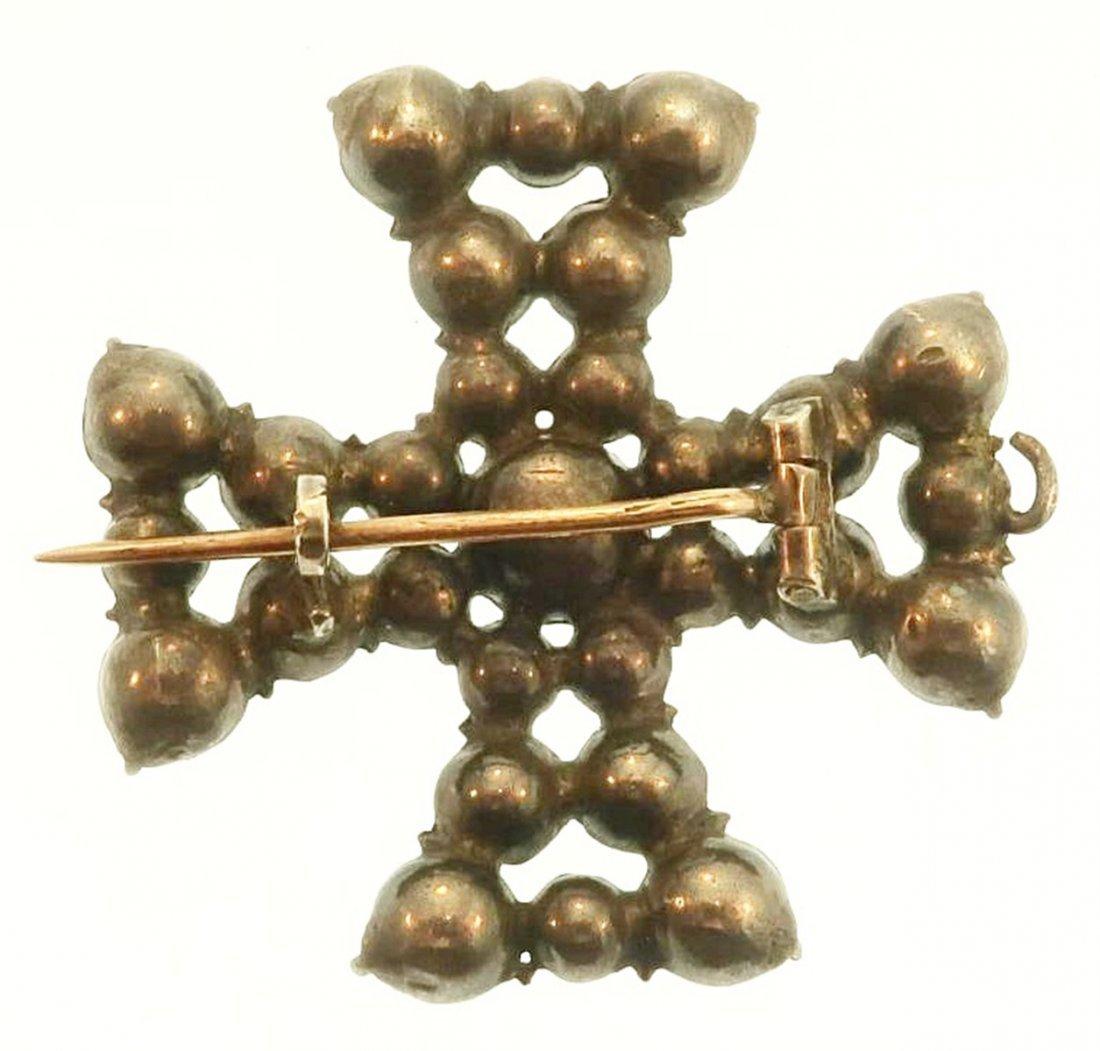 English Maltese Cross Pin/Pendant c.1800 - 6