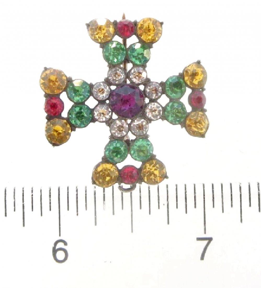 English Maltese Cross Pin/Pendant c.1800 - 7