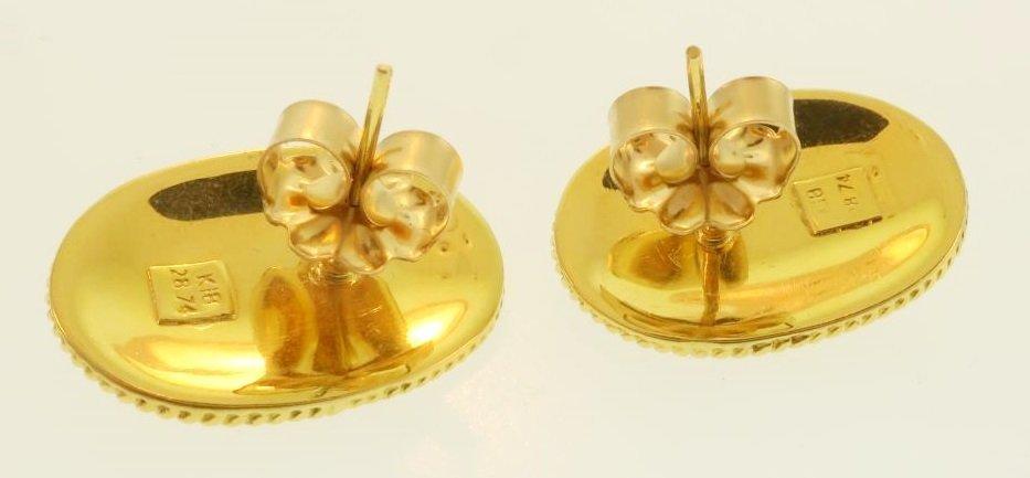 Archaic Motif 18k and Ruby Earrings - 7