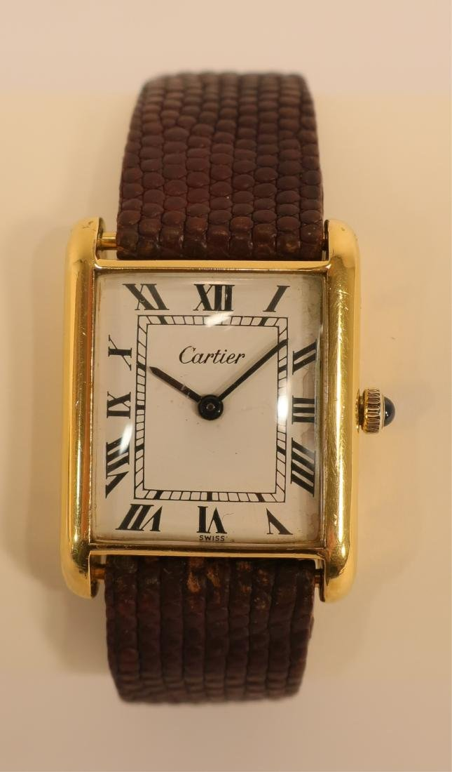 Cartier Gold Plated Wristwatch